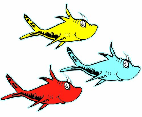 Seuss One Fish Two Fish Papier (Dr. Eureka)