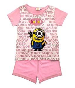 Despicable Me Minions Girls Pyjamas Shorts Pjs Set Size UK 3-8 Years