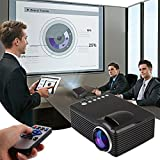 Cewaal HD Vidéo Projecteur, (EU Plug) Support Double HDMI et USB Multimédia LCD Image Système Home Cinéma Projecteurs pour Ordinateur TV Lecteur DVD Ordinateur Portable Sous-Sol Extérieur Film Holiday