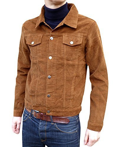 retro tabak/beige/braun, Kord, western jacket 60er/70er-Jahre-Gr. s, m, l, xl, xxl (Baumwolle 60er Jahre 70er)
