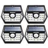 Mpow 4 Packs 20 LED Lampes Solaires Extérieurs Etanche IP65 Détecteur De Mouvement Temps Eclairage 30s, Spot Solaire Eclairage Exterieur Pour Jardin, Maison, Garage, Cour, Mur, Escalier, Patio etc