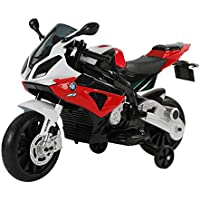 Homcom Coche Correpasillos Niños 3-8 años Moto Eléctrica Infantil Batería 12V Doble Motor con Luces y Sonidos Ruedas Seguras 110x47x69cm PP