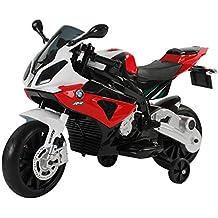 Homcom Coche Correpasillos Niños 3-8 años Moto Eléctrica Infantil Batería 12V Doble Motor con