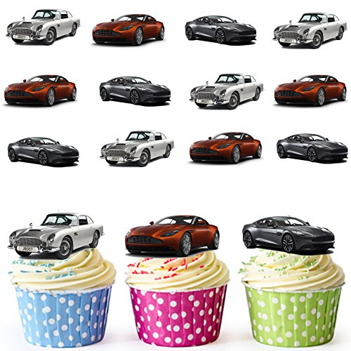 aston-martin-car-mix-cake-decorations-12-edible-wafer-cup-cake-toppers