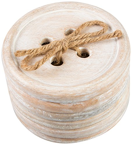 sass-belle-wood-button-wood-coaster-set-of-6-brown