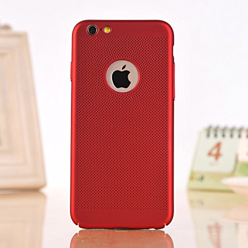 Für Apple IPhone 6 u. 6s Fall Normallack-Metallaluminiumlegierungs-Ineinander greifen-Kasten Ultra dünner dünner leichter Hitze-Dissipation-rückseitige Abdeckung ( Color : Red ) Red