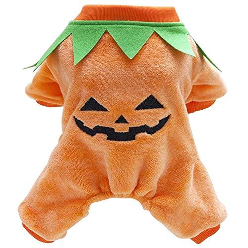 Shanyaid Formidables Halloween Kürbis Haustier Hund Kostüm Cosplay Outfit Hunde Katzen Mantel Jacken Bekleidung Welpen Hündchen Winter Hund Kleidung Pullover Orange (Size : L)