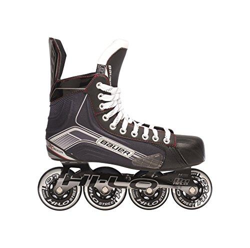 BAUER - Erwachsenen Senior Inlineskates X300R I Herren Inliner I Rollerskates für Inline-Hockey-Einsteiger I komfortabel & stabil I ideal für Änfanger I atmungsaktiv I Inliner für Männer - Schwarz Inline-hockey-skates 10