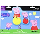 Amscan International Super Shape - Globo, diseño de Pepa Pig