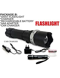 Diswa Amazing Adjustable The Zoom Head Rotation Dimming Flash Light with Charging Jack
