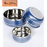 Home Creations Stainless Steel Handi Set For Serving (1000 ML,600 ML & 400 ML) - Set Of 3