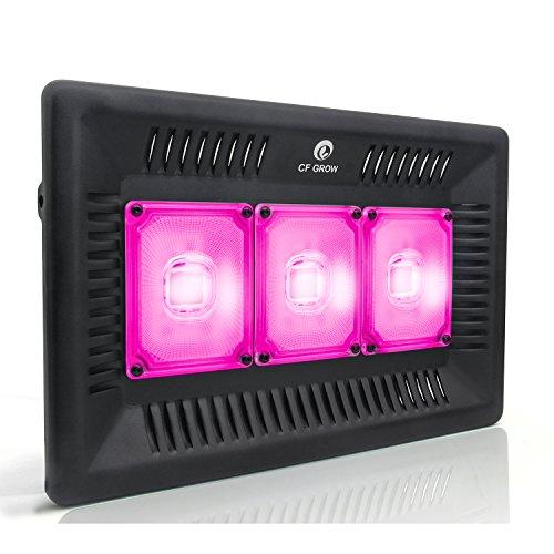 Lampara de Cultivo 300w Resistente al Agua IP67 Grow Light LED Luz Plantas Espectro Completo Ligero para Interior/Invernadero/Hydroponic Planta Crecimiento-Ultra-Delgada
