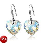 GoSparking Aurora Borealis cristallo del cuore Sterling Silver Orecchini con cristallo austriaco per le donne