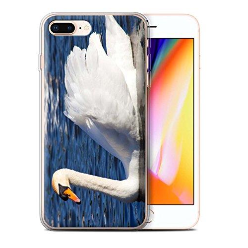 Stuff4 Gel TPU Hülle / Case für Apple iPhone 8 Plus / Altes Boot Muster / Britischen Küste Kollektion Schwan