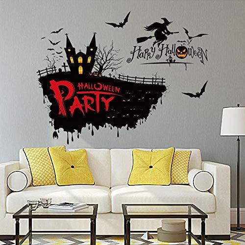 Yaju Wandaufkleber Halloween Horror Hexe Aufkleber dekorativen Aufkleber können entfernen PVC Wand Wandtattoo 50 * 70cm
