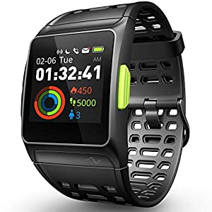 Smart Watch Fitness Tracker, GPS Sport Watch ECG / Fatiga / Dormir / Monitor ritmo cardíaco IP68 Impermeable Smartwatch, multi-deporte Notificaciones mensajes Pantalla táctil color Reloj de correr