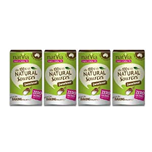 Natvia 100 Percent Natural Sweetener Canister 200 g (Pack of 4)