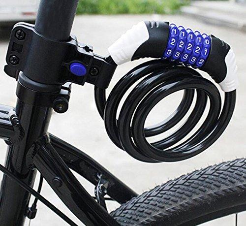 Vélo Verrouillage Vélo Verrouillage VTT Serrure électriqueéquipement D'équitation De Verrouillage De Fil Anti-vol Mouche Morte,Yellow