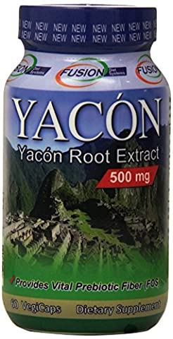 Fusion Diet Systems, Yacon Root Extract, 500 mg, 60 Veggie Caps