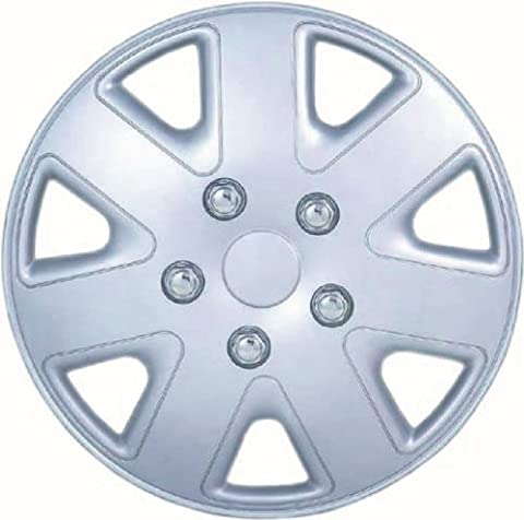 SET OF 4 x 16 INCH ALLOY LOOK CAR WHEEL TRIMS/COVERS/SILVER 16