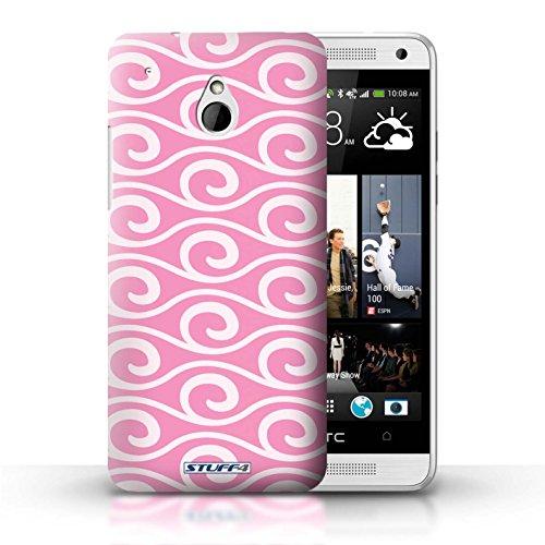 Kobalt® Imprimé Etui / Coque pour HTC One/1 Mini / Violet conception / Série Motif ondes chic Rose