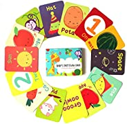 Shumee 40 Double Sided Flashcards (1 Years+) - Learn Colours, Shapes, Animals, Fruits, Vegetables, Transport &
