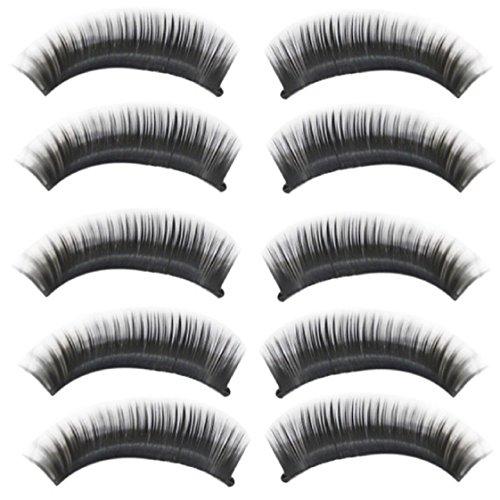 Vovotrade NOUVEAU 10 paires naturelles longue noir épais faux cils Cils Maquillage de Charme