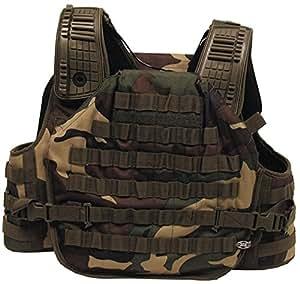 gilet de combat Tactical Armor, modulable, Couleur:woodland