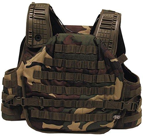 Profi Einsatz Weste 'Tactical Armor' Modular System Woodland Weste Tactical Armor
