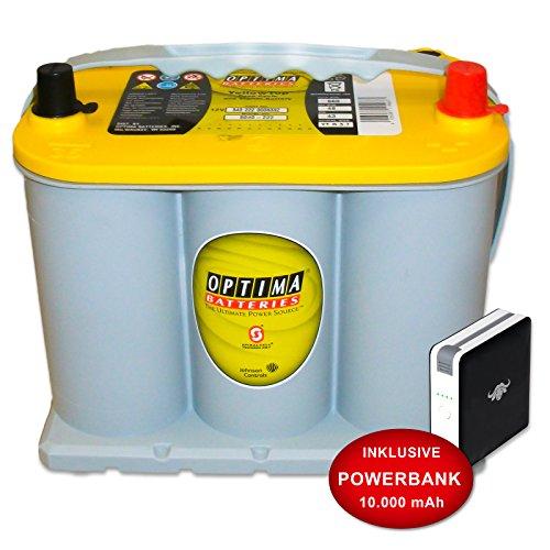 Preisvergleich Produktbild Optima Yellow Top YT R 3, 7 - 12 V / 48 Ah - 660 A / EN Starterbatterie Versorgungsbatterie inkl. 10 Ah PowerBank