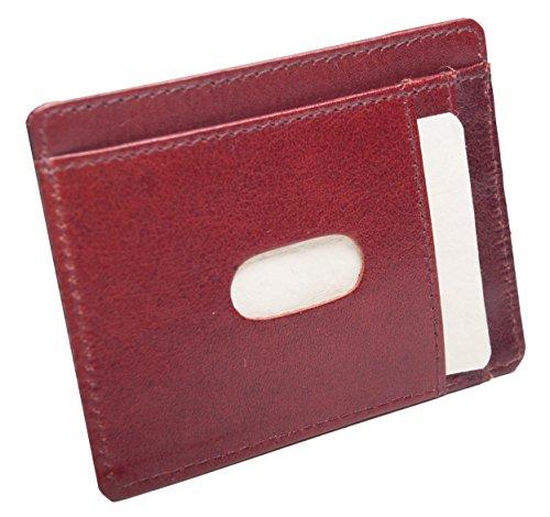Anders- Tarjetero para tarjetas de crédito, DNI, de piel fina marrón