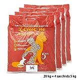 Purrfetto Sabbia Gatto Pellet - Biodegradabile WC 100% - Vegetale - Lettiera Coniglio Nano, Uccelli e Roditori (20 kg - Set 4 Sacchi)
