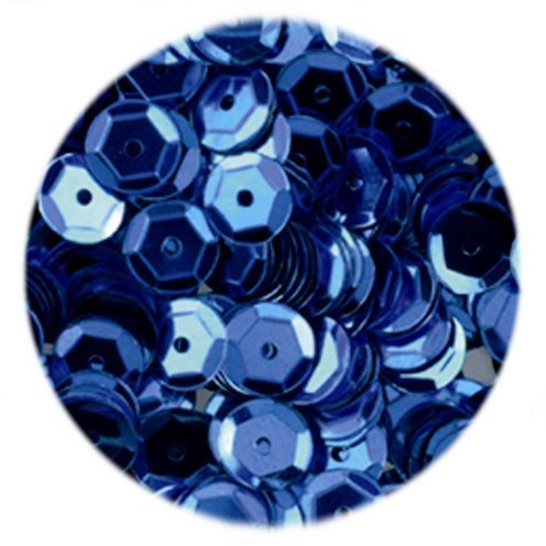 Azul 6 mm semicírculo con diseño de lentejuelas y/pinflair (4000 piezas)