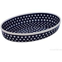 Original Bunzlauer Keramik Auflaufform oval 23.0x31,0x6.0cm (LxBxH), 1,8 Liter, für 3-4 Personen im Dekor 42