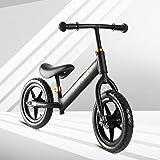 RUIVIVRE Leicht Balance Training Bike Roller mit Verstellbarer Lenker Sitz für 2345Jahre (Schwarz)