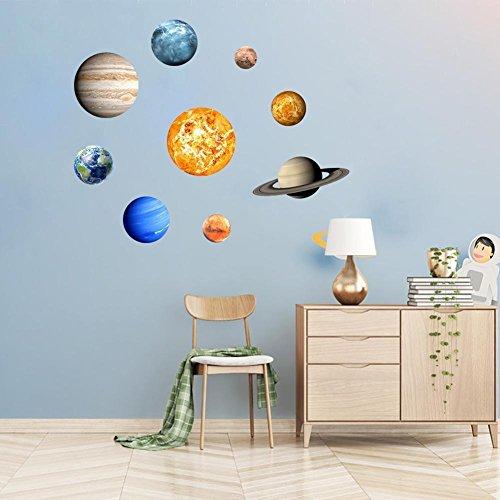 Preisvergleich Produktbild YJYDADA Wandaufkleber,  leuchtet im Dunkeln,  30 cm,  runde Planeten,  Stern,  PVC Aufkleber für Kinderdecken,  Wand- und Schlafzimmer