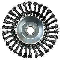 Cepillo de malezas Rotary Joint Nudo de torsión Disco de cepillo de rueda de alambre de acero 25.4x200mm Paisajismo y corte Accesorios para maquinaria de riego - Plata