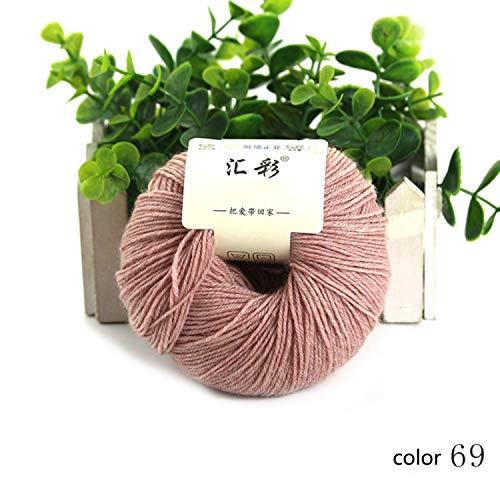 Xiaochou@sl 15 Farben erhältlich, Garn Strickgarn Wollgarn Herbst Winter Hand Serie Schal Linie weichen Baby Pullover Linie 1 Ball etwa 50 g 4/15 NM (Color : Col 35, UnitCount : 1 Ball) -
