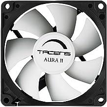 Tacens 3AURAII - Ventilador para ordenador (12 cm,12dB, 1500 RPM, Tecnología Fluxus II, sistema antipolvo, aspas aerodinámicas, duración de 60.000h) color negro