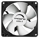 Tacens 3AURAII - Ventilador para ordenador, 2 cm,12dB, 1200 RPM (+-200), Tecnología Fluxus II, sistema antipolvo, aspas aerodinámicas, duración de 60.000h, color negro [España]
