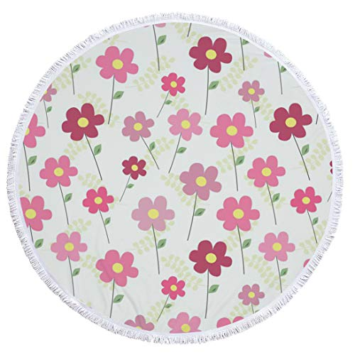 BBQBQ Gedruckter runder floraler Multifunktions-Strandtuch-Teppich shawl-03 150 * 150cm - Ultra-sensitiv-system