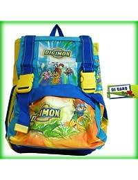 Mochila escolar Multi extensible Digimon Monster + Le Esclusive Metal Cards