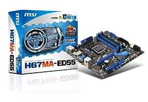 MSI H67MA-ED55 (B3) Carte mère ATX Intel H67 1155 Socket Compatible CPU Intel Sandybridge Version B3