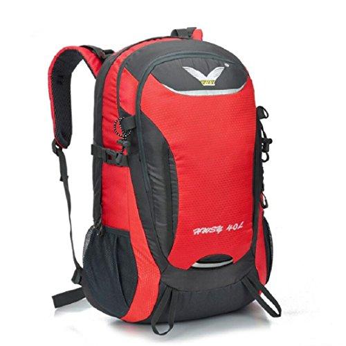 Z&N Backpack 40L KapazitäT Unisex Outdoor Bergsteigen Rucksack Camping Wandern Radfahren Skifahren Urlaub GepäCk Taschen College-Taschen Daypacks Tornister B