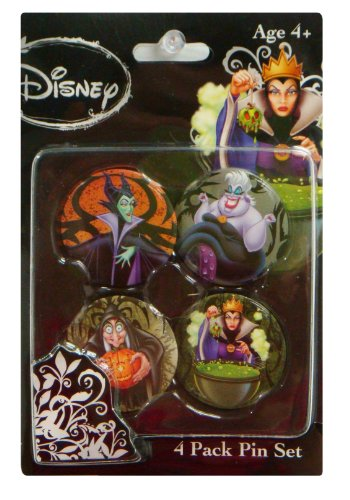 Pin set-Disney Villains 4Pack New Gifts Toys Licensed 24499