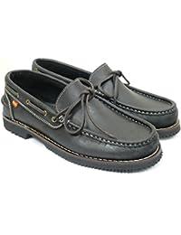 DQQ Slip-On De Punto De Las Mujeres De Barco Para Hombre Zapatos, Color Negro, Talla 36 2/3