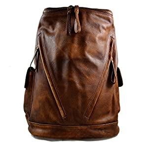 Leder rucksack braun gewaschen leder rucksack damen herren reisetasche kalbsleder rucksack vintage leder rucsack sporttasche