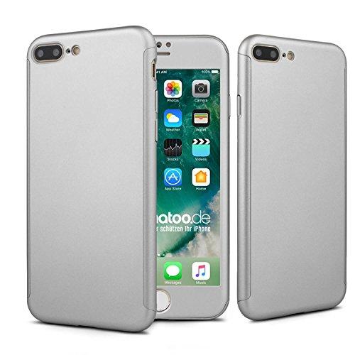 iPhone 6s 360 Grad Fullbody Hülle, Schutzhülle, Case und Panzerglas [ Schwarz ] iPhone 6s / 6 Silber