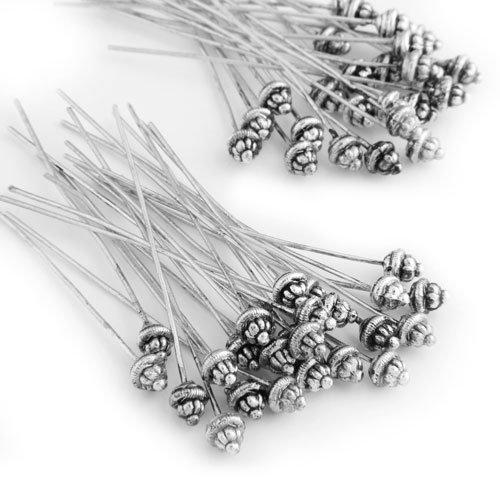 Ecloud Shop 50 St Nadel Nietstifte Kettelstifte Stifte Silber Farbe