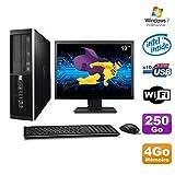 Lot PC HP Elite 6000 Pro SFF E5400 2.7 GHz 4GB Disk 250Go WIFI W7 Pro + Screen 19